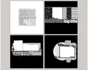 Mixin It Up 9 - 12x12 Digital Scrapbooking Templates