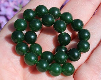 4 beads Emerald round 8MM AAA +++ AT7