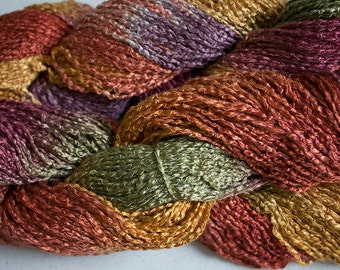Finch, Hand-dyed Rayon Boucle Yarn, 225 yds - Old Brass