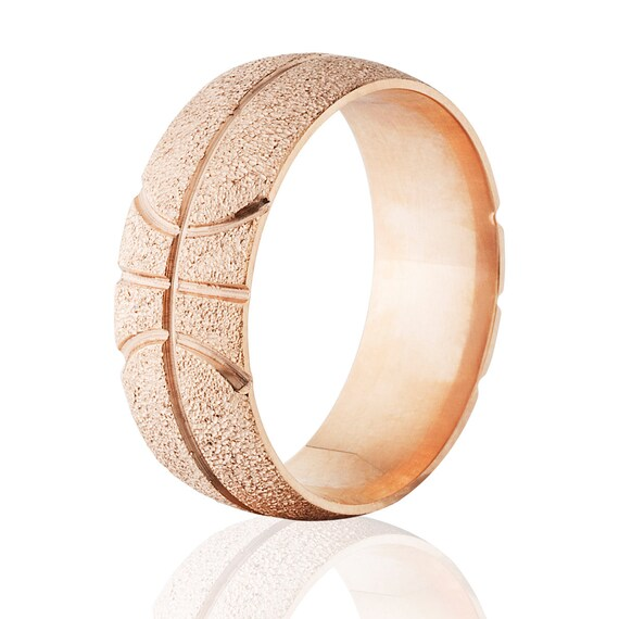 14k Rose Gold Basketball Rings Custom Basketball Wedding