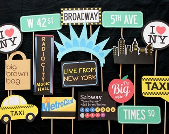 New York City Themed Photo Booth Props