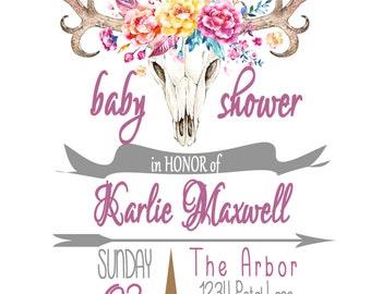 Boho Baby Shower Invitation
