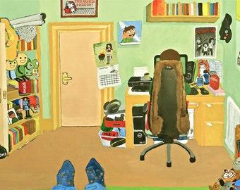 Edd's Bedroom (Eddsworld) - A3 Print