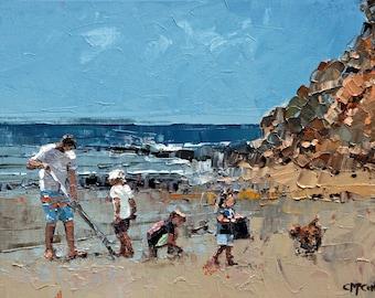 Family | Gift For Mom | Home Decor | Abstract Coastal Art | Ocean Blue Wall Art | Wall Decor Seascapes | Seascape Art Decor | Seascape