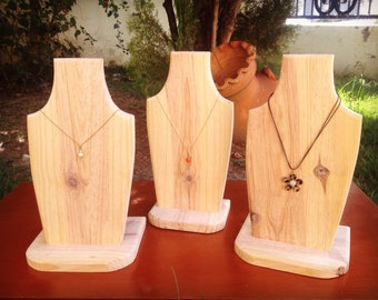 Necklace Display PineWood Hand Made
