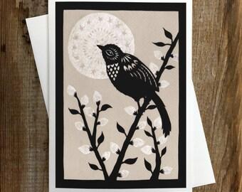 Moonlit Willow - Greeting Card