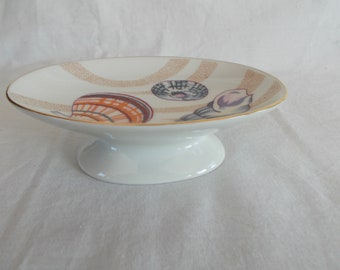Vintage Seashell Ceramic Soap Dish