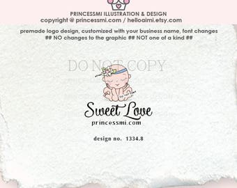 1334-8  newborn logo, baby logo, newborn business, logo branding,  boutique logo, business branding, business logo design, cute baby