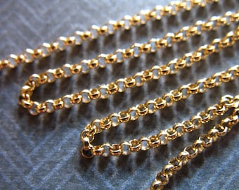 14kt Gold Filled Chain, 1.5 mm Rolo Cable Chain, wholesale chain ssgf sgf7