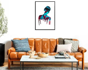 Printable Woman Silhouette Designed
