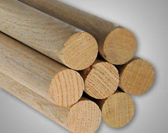 "Wood Dowels - Oak - Pack of 5 [24""]"