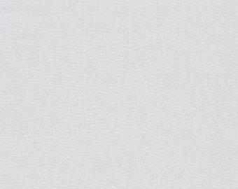 Silver, Kona Cotton, Robert Kaufman Fabrics, Half Yard