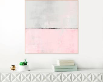 Pink Abstract Art, Large Pink Painting, Modern Abstract Print, Minimalist Painting, Oversized Wall Art, Inspiration Abstracts