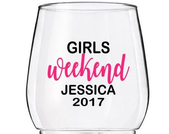 DIY Custom Wine Glass Decals, Girls Weekend Party Decals, Personalized Party Decals, Cups NOT Included