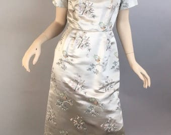 Vintage 60s Chinese Dress// Chinese Wiggle Dress// Mad Men Chinese Dress and Jacket (F1)