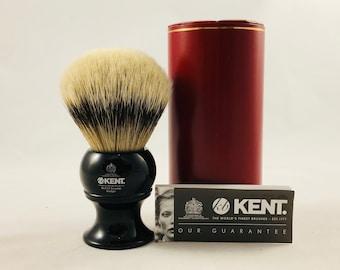 Kent BLK12 Ebony Handle Silvertip Badger Brush
