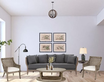 Boho Living Room Online Interior Design Package Bohemian