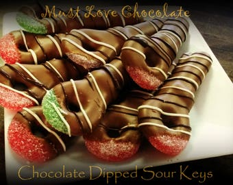 Chocolate Dipped Sour Keys