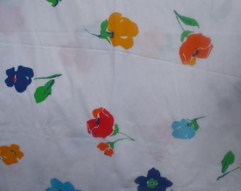 Martex Flower Power Ultracale Double Full Flat Sheet Primary Colors Floral