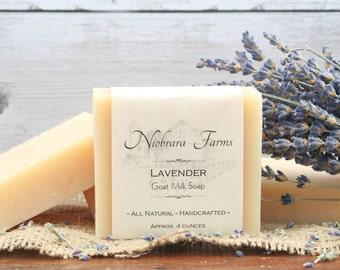 Natural Goat Milk Soap - Natural Lavender Goat Milk Soap - Lavendar Soap - Handcrafted Soap Bar - Handmade Soap Bar - Sensitive Skin Soap