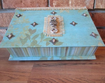 125 Attention OWL LOVERS! Decorative Box, Owl Keepsake Box, Owl Memory Box, Owl Decor, Large Keepsake Box, Large Memory Box!
