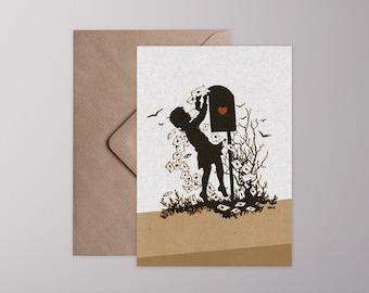 Folding Card › Valentine post ‹/retro, Vintage, card, greeting card, envelope, gift, love