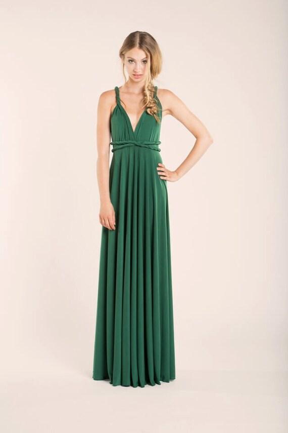 Grün vielseitig Kleid grün lang vielseitig Kleid langen