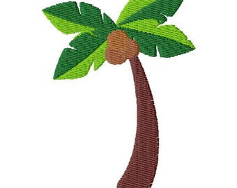 Coconut Tree Embroidery Design - Instant Download