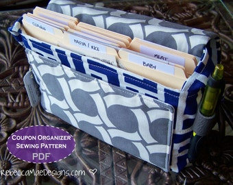 PATTERN Quilted Coupon Organizer - DiY PDF sewing pattern for coupon holder