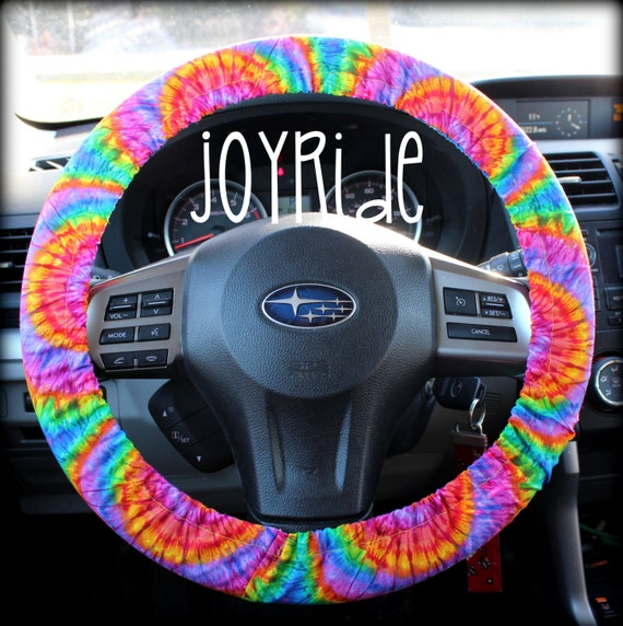 Steering Wheel Cover Tye Dye Rainbow Sunburst Car Accessories