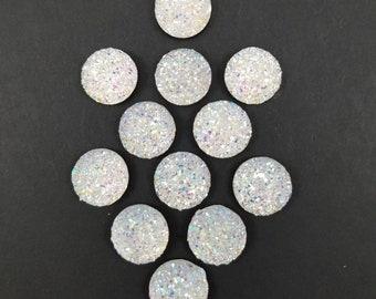 Iridescent Sparkles Decorative Thumbtacks, Set of 12, Pearlescent Thumbtacks, Bling Thing, Pearly, Office Supplies, Bulletin or Memo Board