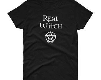 Real Witch Pagan Wiccan Lady Fit Cheeky Witch® Womens T-Shirt