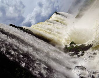 Iguazu Falls Large Print, Brazil Photography, Iguazu Falls Wall Art, Extra Large Print, Fine Art Print, Waves, Waterfall Photo, Brazil Gifts