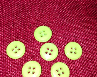 Lime green set of 6 buttons