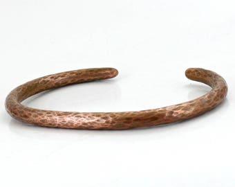 Hammered Bangle - Men's Copper Cuff Bracelet - Hammered  - Personalized Cuff bangle Bracelet- Custom Bangle- Men's Gift