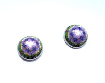 Stud Earrings, Polymer Clay Earrings, Kaleidoscope Earrings, Flower Earrings, Polymer Clay Studs