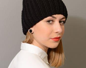 Stormy hat, woman's wool hat, man