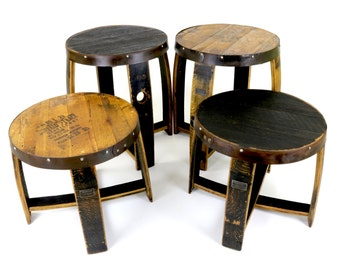 Bourbon Barrel End Tables   Repurposed Furniture   Rustic End Tables