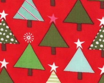 Fabric Christmas trees Christmas joy Moda patchwork