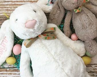 HUGE Personalized Jellycat Bunny Rabbits, Easter Gift, Stuffed Animal Bunny, Easter Basket Gift, Monogrammed Bunny, Personalized Bunny