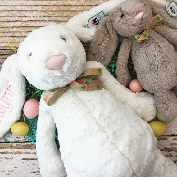 Huge personalized jellycat bunny rabbits easter gift stuffed like this item negle Images