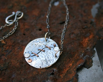 YinYang World Sterling & Copper Necklace - Dots