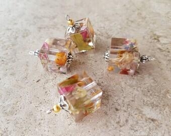 Nature Fantasy Cube Earrings