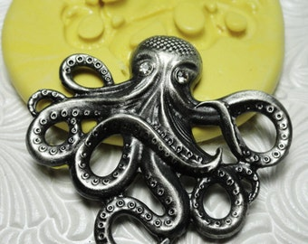 STEAMPUNK OCTOPUS Mold Flexible Silicone Rubber Push Mold for Resin Wax Fondant Clay Ice 7451