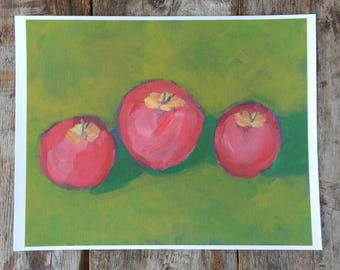 Fine Art Print - Three Apples Archival Giclee Print