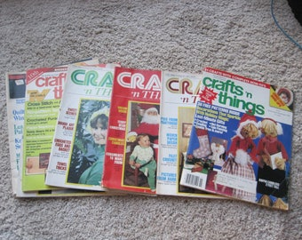 Lot of 7 - Crafts 'n Things Magazines - Vintage