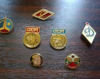 Sport. Set of 7 pins.