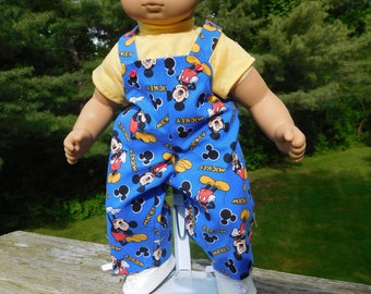 15 inch Baby Doll Overalls and Tee Shirt