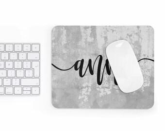 personalized Mousepad, cement design, custom name mousepad