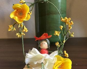 Flower Fairy on Swing